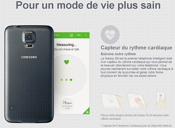 galaxy s5 dispositif medical
