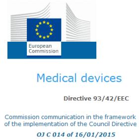 Normes harmonisees 93-42-CEE 16-01-2015