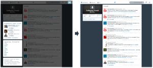 Qualitweet - Twitter - suppression elements