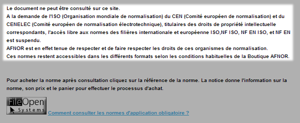 norme NF EN application obligatoire - afnor - consultation