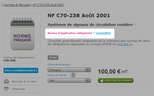 afnor - norme application obligatoire