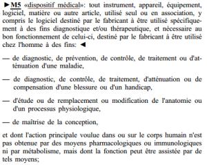 directive 93/42: definition dispositif medical