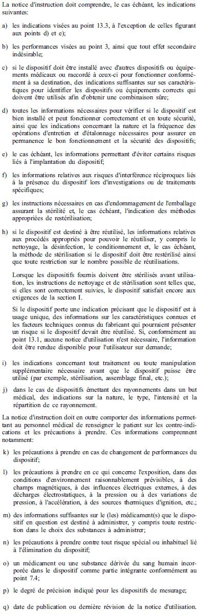 Exigences essentielles - 13-6 - Notice d instruction