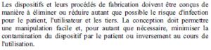 Exigences essentielles - 8-1 - Infection contamination