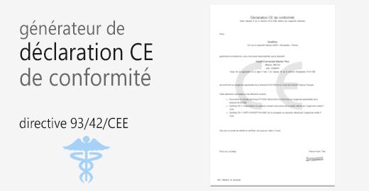 générateur declaration confirmite CE