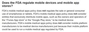 FDA mobile app