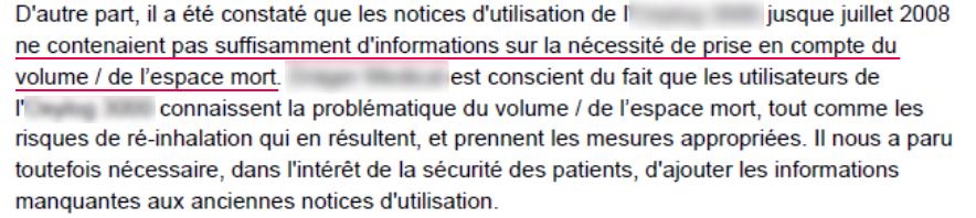un manque d'informations fournies peut conduire à des dangers