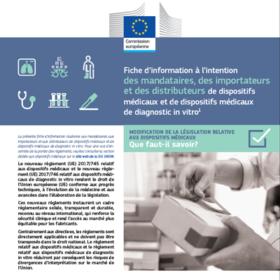 fiches d'information pour les règlements dipositifs médicaux