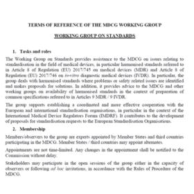 mandat working group reglement dm