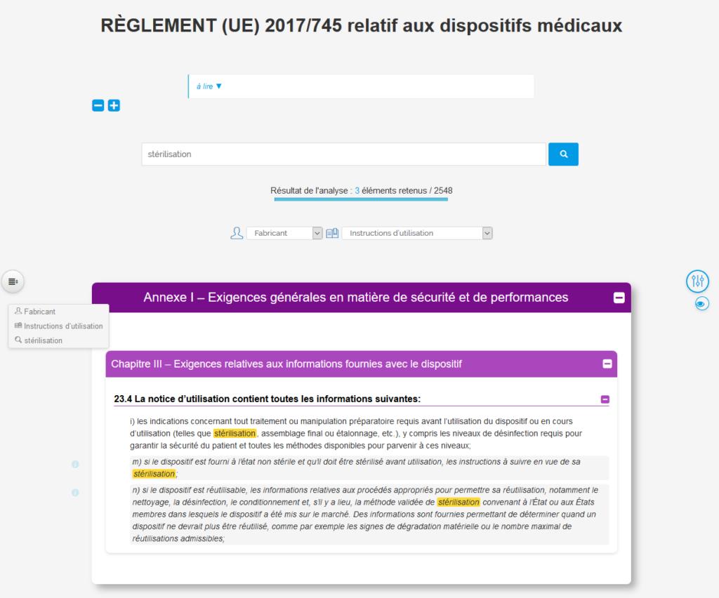 reglement dispositifs medicaux web
