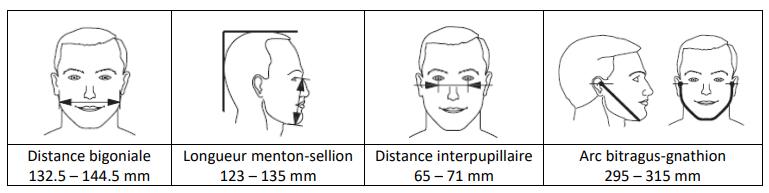 dimensions masque barrière