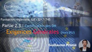 Annexe I : Exigences Générales