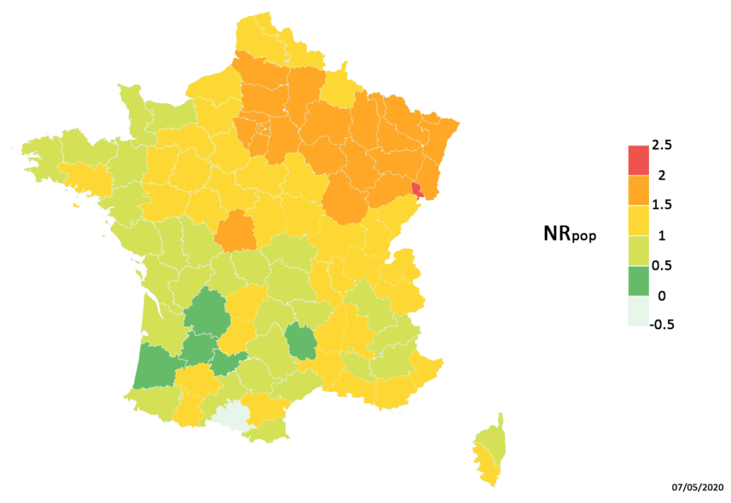 Coronavirus : carte risque par département