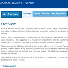 site UE dispositifs medicaux