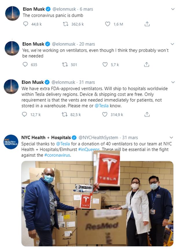 Elon Musk et respirateurs sur twitter