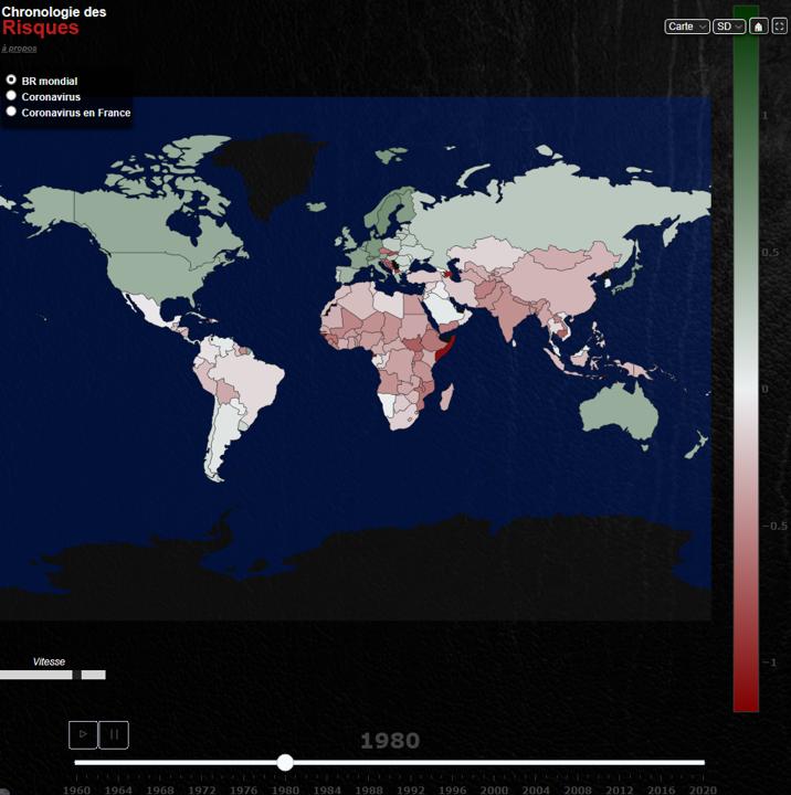 Carte animée du progrès dans le monde