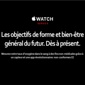 Apple watch 6 : Oxymètre