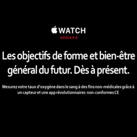 Apple watch 6 : Oxymètre