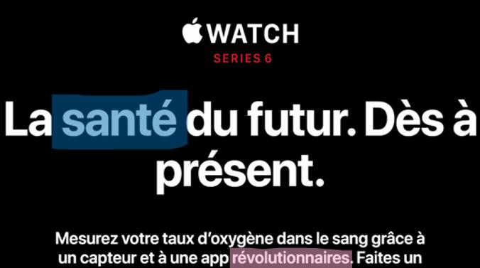 apple watch 6 : oxymètre pour la santé