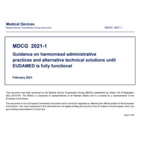 MDCG 2021-1