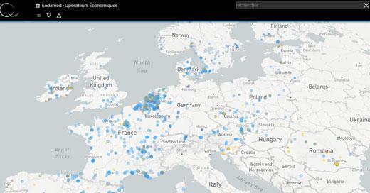 Eudamed map