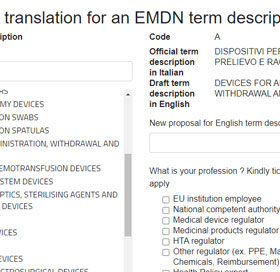translation for an EMDN term