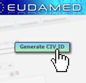 Générer un CIV ID sur EUdamed